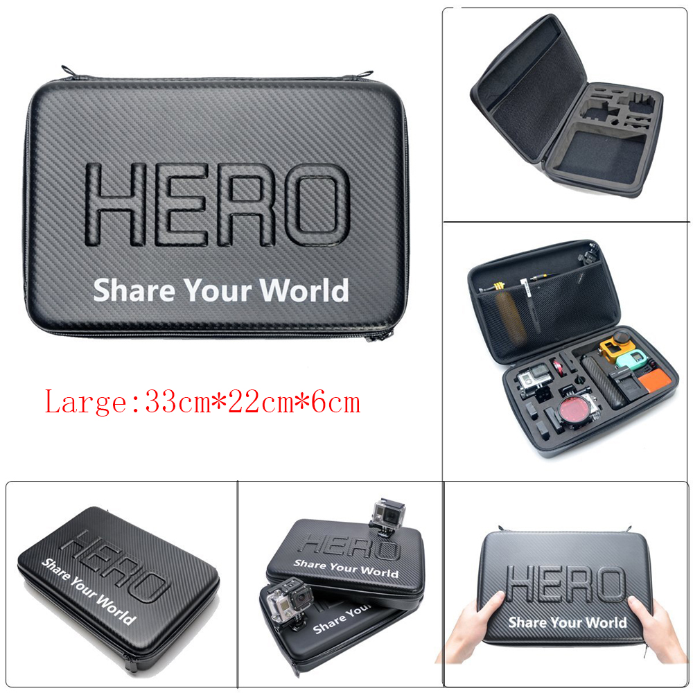 Go pro L Size New Travel Storage Collection Waterproof Bag Case for GoPro Hero 4/3+/3/2 SJ4000/SJ5000 Action Camera Accessories(China (Mainland))