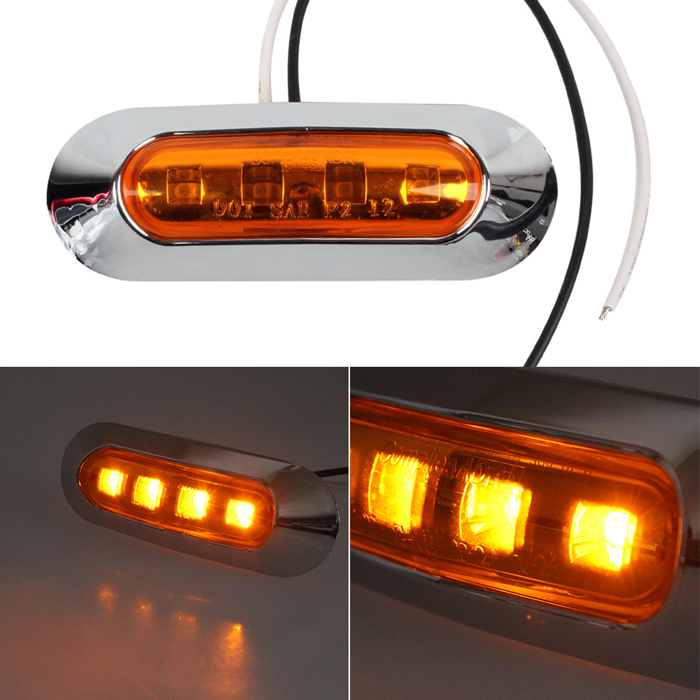 2 x red car waterproof side marker light truck clearance. Black Bedroom Furniture Sets. Home Design Ideas