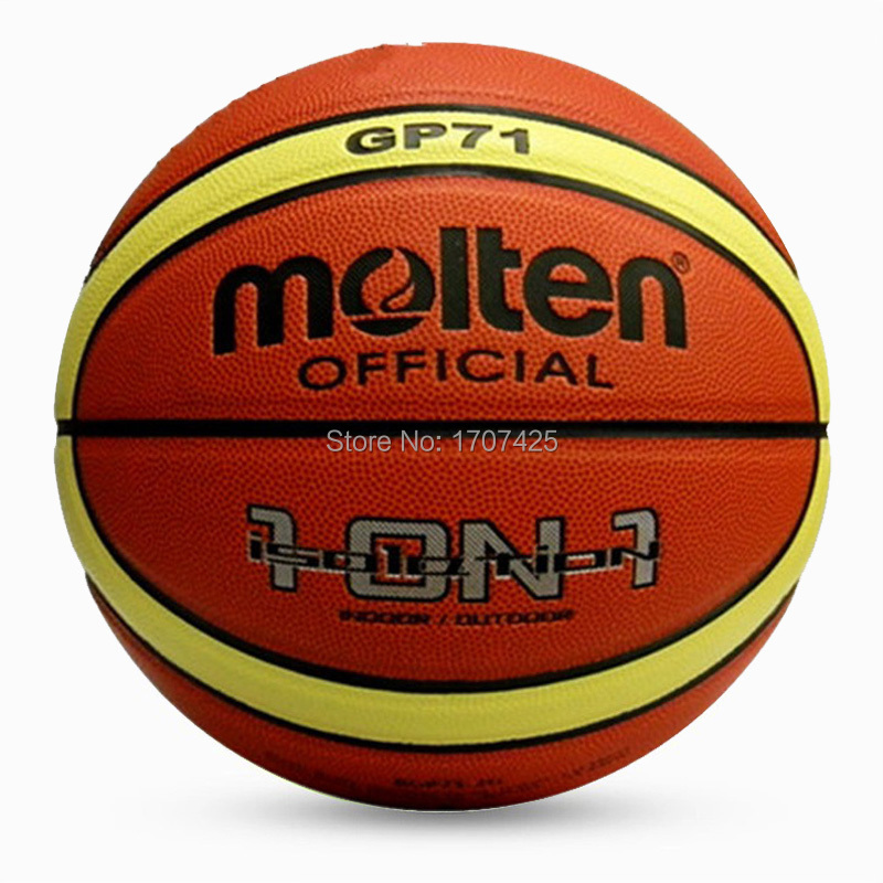 Hot sale retail 2015 NEW Brand Cheap Molten GT71 Basketball Ball PU Materia Official Size7 Basketball Free With Net Bag+ Needle(China (Mainland))