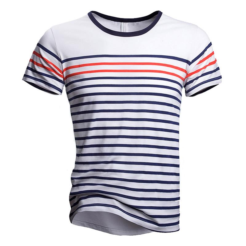 2016 New Arrive Mens Short Sleeve Tshirt Men Summer Casual Tee Shirts Tops Classic Stripe Style Men Clothes C290(China (Mainland))