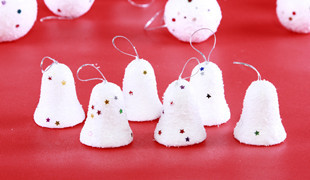 Christmas tree accessories products Snow bell pendant ornament decoration(China (Mainland))