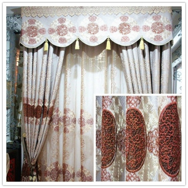 High Quality Burgundy Valance Curtains-Buy Cheap Burgundy Valance ...