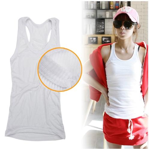Fashion Slimming Vest Cami Racerback Sando Shirt Tank Grey freeshipping