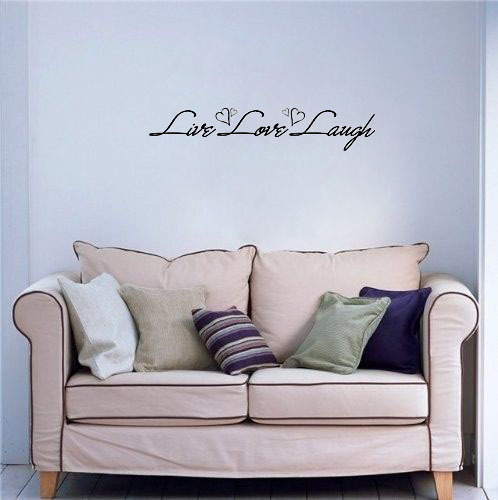 Free shipping: Live Laugh Love Quote Wall Decals Vinyl Stickers Home Decor Art Sticker Living Room Decor Vinyl Wall Stickers(China (Mainland))