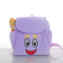 2016 New cute backpack Dora the Explorer plush toy mini schoolbag with map kids gifts boy girl baby student bags lovely Mochila(China (Mainland))