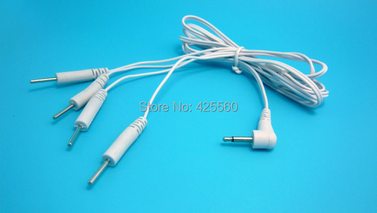 200 Pieces Replacement Electrode Lead Wires Connector Cables Jack DC Head 2.5mm Connect Physiotherapy Machine or TENS Unit(China (Mainland))