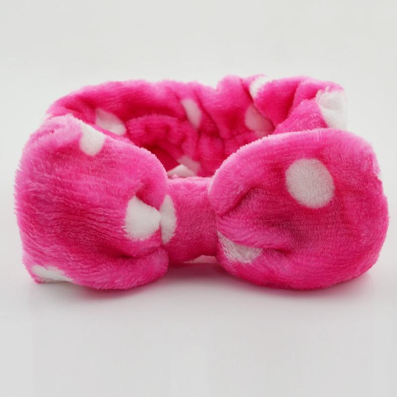 Korean Cute Big Bow Baby Headbands for Girls Bathroom Sets Wash Face Outdoor Sport Headwear Comfortable Flannel Fabric Hairband(China (Mainland))