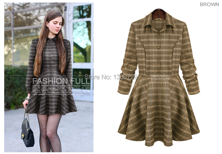 Pretty Fall Dresses For Women new women S XL Gray Brown