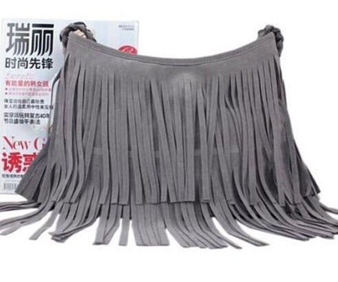 New 2014 Women's Hot sale Suede Fringe Handbags  wmen's fashion Tassel Shoulder Bag messesnger bags Handbeags Z5