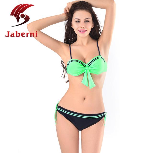 Продвижение оптовая продажа бикини зеленый синий элегантных женщин пляжная росту лучший двойной плечевой ремень дамы плавание