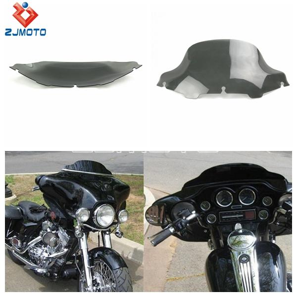 Zjmoto горячий дым мотоцикл 9 1/2 ' цикл волна лобовое стекло для Harley электра улица скользить гастроли велосипед 2006 - 2013 бесплатная доставка