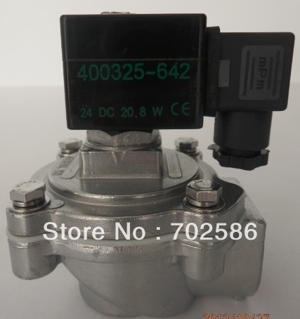 "1''  and 3/4"" right-angle solenoid pulse valve like SCG353A044 and SCG353A043 of ASCO of the USA"