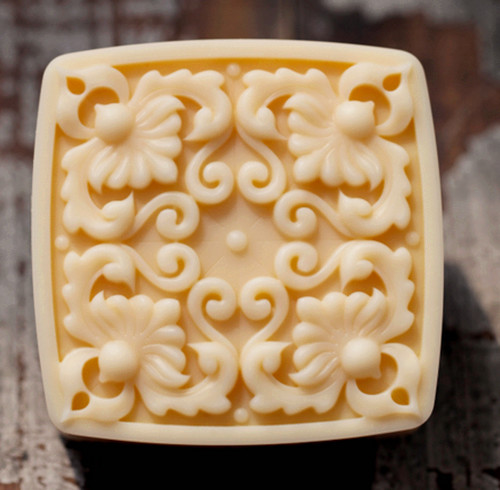 wholesale!!!1pcs Square Four Flower Lace (C552) Silicone Handmade Soap Mold Crafts DIY Mold(China (Mainland))