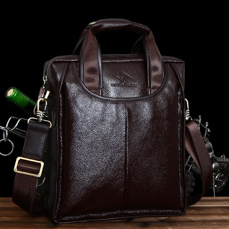 Фотография Guaranteed 100% Cowhide man bag casual bag genuine leather handbags messenger bag for men Hot sale Free shipping