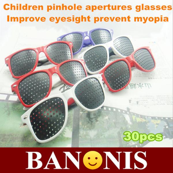 Children's vision care adjustment pinhole glasses, porous glasses, correction of myopia, hyperopia astigmatism, mirror ,30x(China (Mainland))