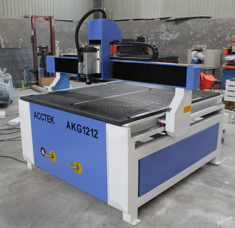 cheaper 4 axis air cooled vacuum table AKG1212 cnc mini milling machine for woodworking job(China (Mainland))