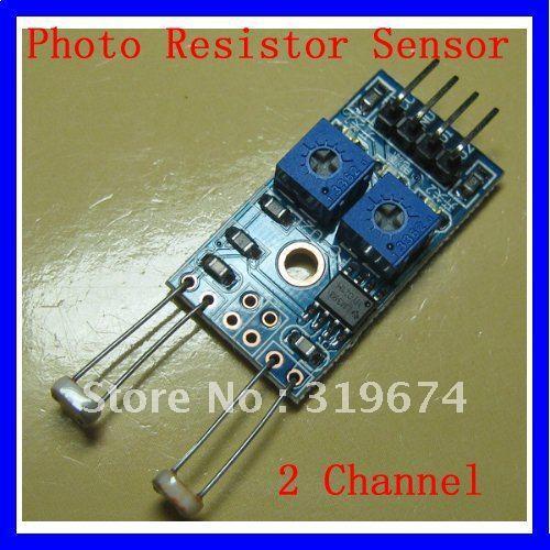 PCB Board 4 Pins 2 Channel Photoresistor Sensor Module New