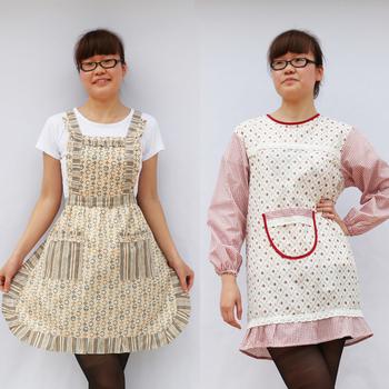 Letze rustic aprons long-sleeve aprons anti-wear gowns, raglan sleeve bag