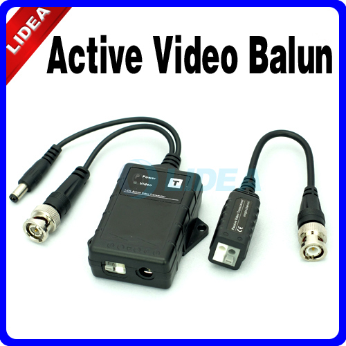 New 2014 Hot High Quality UTP Network Active Power Balun CAT5 to Camera CCTV System BNC Connector Passive Video Receiver HK B-21(China (Mainland))