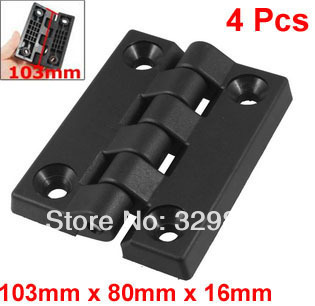 103mm x 80mm Countersunk Hole Plastic Cabinet Ball Bearing Hinge Black(China (Mainland))