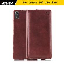 IMUCA for Lenovo Vibe Shot Z90 Z90-7 case cover for Lenovo Z90 Luxury Flip for Lenovo Vibe Shot mobile phone csaes accessories