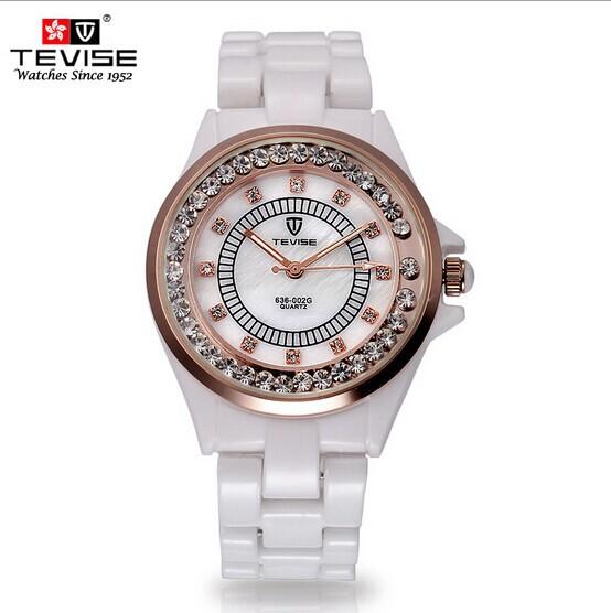 Original Brand Swiss men women watches ceramic quartz watch fashion set auger female rhinestone Watch male wristwatches with box(China (Mainland))