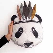 2015 New Fahion Baby StuffedToys Pillow Kids Room Bed Sofa Decorative Indian Panda Cushion Children's Best Gift(China (Mainland))
