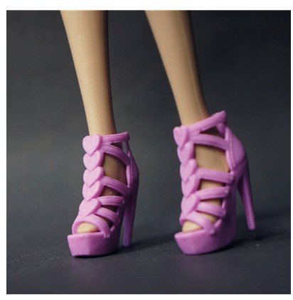 30 totally different kinds for select Colourful Assorted Informal Excessive heel sneakers Flat sneakers for Barbie Doll Style Cute Latest BBI00329