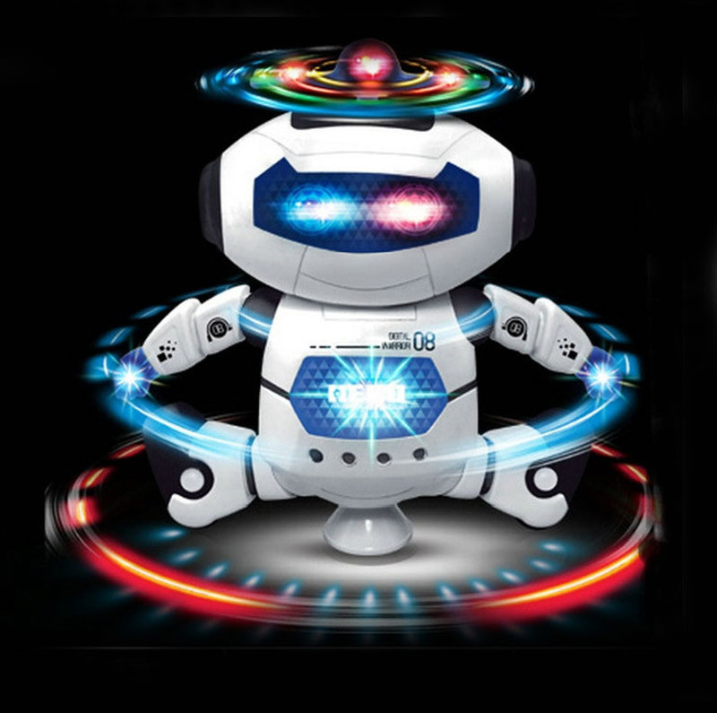 Newest Stunt Kidrobot Superhero Dance Electric Robot With Light Music Musical Toys For Children Infant Adult Action Figures(China (Mainland))