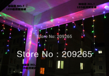 6*3M 800 LED String curtain Light Fairy Lights Decoration Lighting for Christmas Party 220V EU 8 mode with tale connection#2028(China (Mainland))