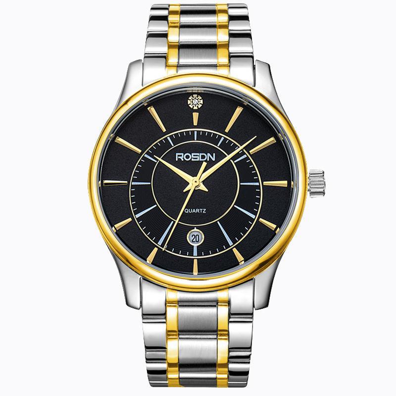 ROSDN 2016 Men Authentic Business Sapphire Waterproof Diver Luminous Steel Belt Multi-Function Belt Steel Belt Day-Date Watch(China (Mainland))