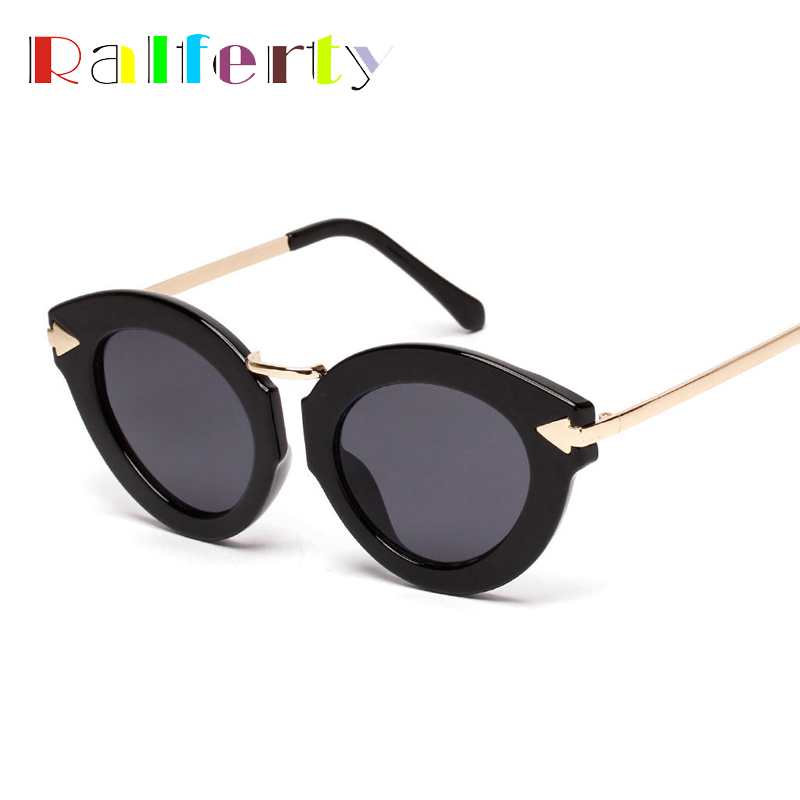 Ralferty Vintage Ladies Cateye Frame Sunglasses Women Retro Mirrored Cat Eye Sun Glasses For Woman Shades Goggles Oculos 1618(China (Mainland))