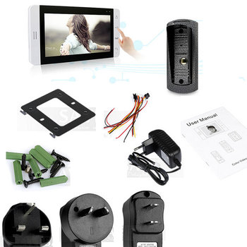 7 Inch video door phone LCD Monitor Touch Key Video DoorPhone Cmos Night Version Camera video intercom system