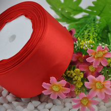 """Buy 25 Yards Red 2"""" (50mm ) satin ribbon craft/party/wedding DIY Decoration Crafts for $3.99 in AliExpress store"""