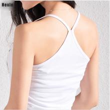 Cotton slim Y style spaghetti strap basice shirt10 color for choose women s vest cotton top