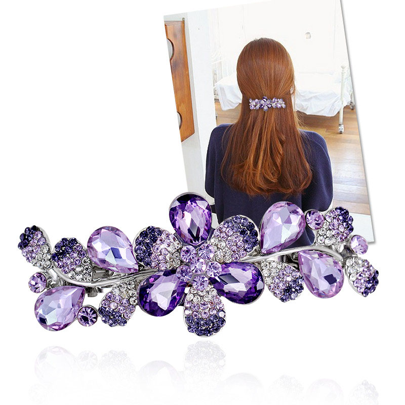 2016 fashion girl hair clip accessories elastic hair clips for women luxurious rhinestone headwear accessories for women china(China (Mainland))