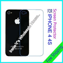 3pcs scratch Matte Anti Glare Scratch Screen protection For iphone 4 4s Back screen protector film free shipping
