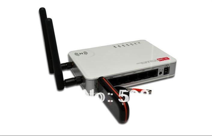 NEW 2 Antennas Mini Wireless - N WiFi USB AP Router 300Mbs 3G / WAN Free Shipping+Dropshipping(China (Mainland))