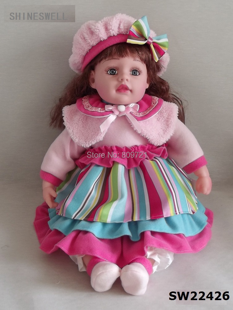 46 CM /18 INCH DOLL Free shipping baby toy doll, manufacturer price Amercian doll, Russian vinyl doll(China (Mainland))
