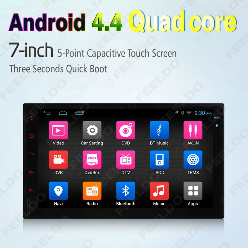 """7""""inch Universal Android 4.4.4 Quad Core 1024*600 Car Media Player With GPS Navi Radio For Nissan/Hyundai 2DIN ISO #CA2421H(China (Mainland))"""