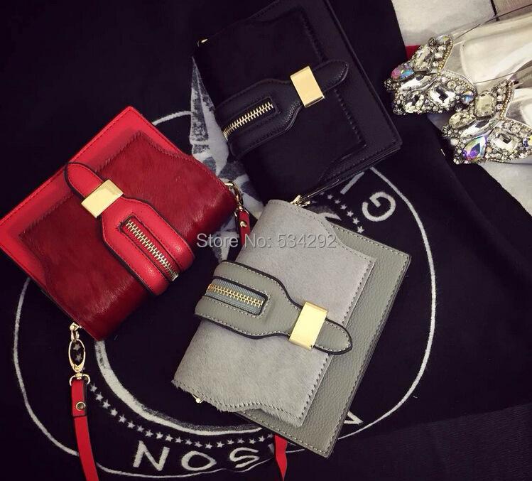 European American fashion women horse hair handbags mini shoulder messenger bag five 5 colors - lily Spade's store