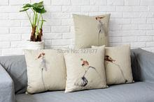 Chinese Lianpeng and bird pattern Cushion