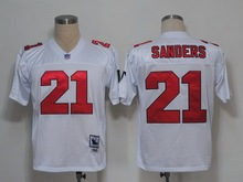 100% Stitiched,Atlanta Falcon,Deion Sanders,brett favre,Vick,Throwback for men(China (Mainland))