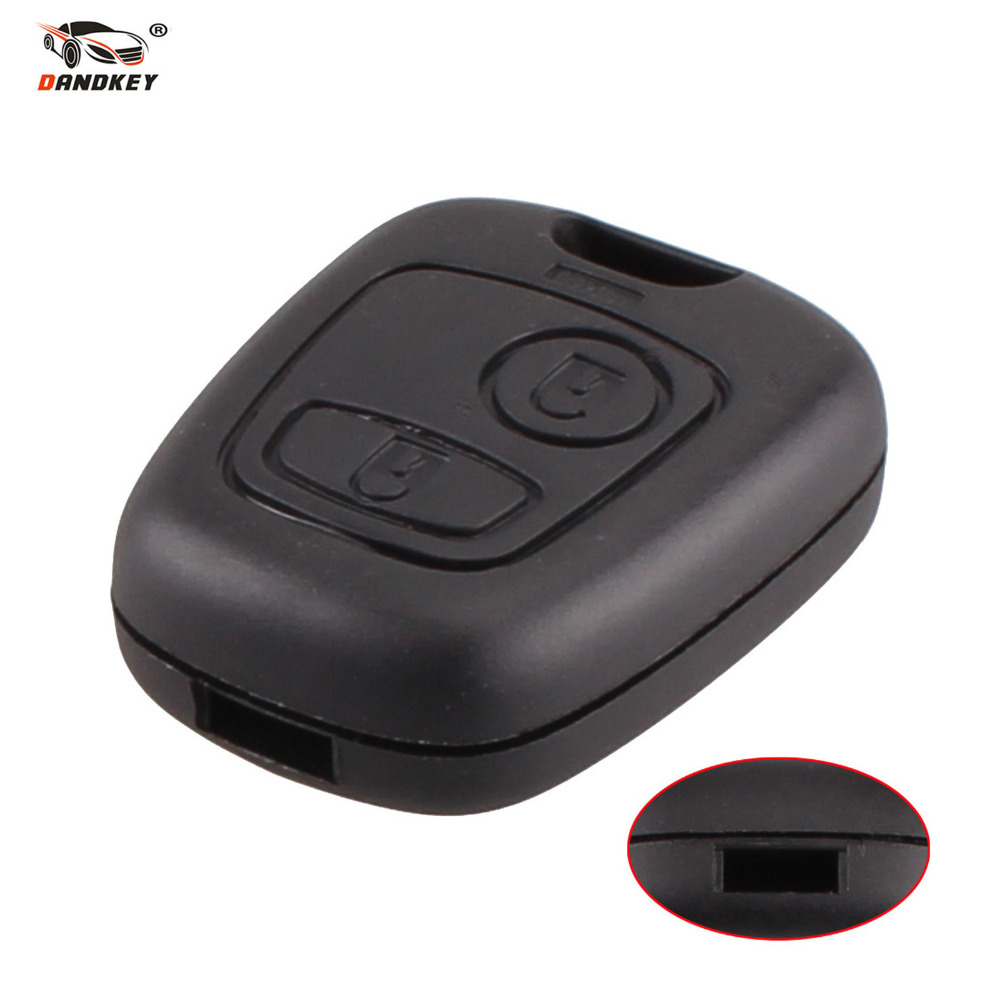 DANDKEY Entry Plastic Key Keyless Remote Fob Shell Case Housing for Peugeot 206 207 306 307 WITH LOGO Free Shipping(China (Mainland))