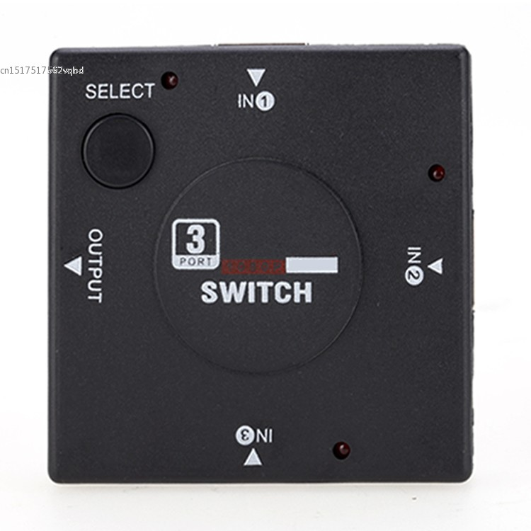 Mini 3 Port Interface Switch Splitter Port Switcher for HDTV 1080P Vedio Drop Shipping 22(China (Mainland))