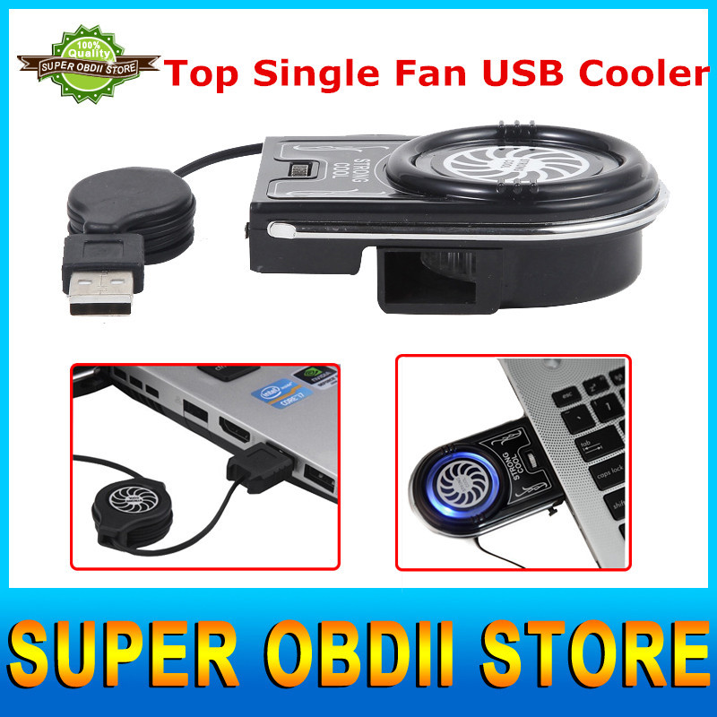 Hot Worldwide USB Cooler Fan Pad In Fans&Cooling Air Extracting USB Cooler Cooling Fan for Notebook Single Fan Notebook Cooler(China (Mainland))