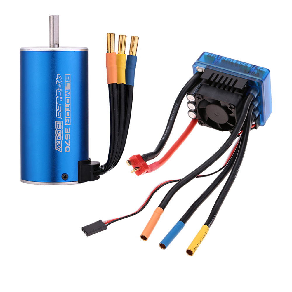 New 3670 1900KV 4P Sensorless Brushless Motor with 120A Brushless ESC Electric Speed Controller for 1/8 1/10 RC Auto Car Truck(China (Mainland))