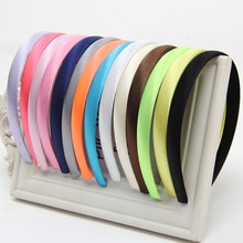 Buy Girls Hair Clasp Women Colored Satin Covered Resin Hairbands Ribbon Covered HeadBand 1.5cm Head Hoop Hair Accessory 5pcs/lot for $1.49 in AliExpress store