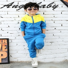 boys clothing set children Autumn cartoon hoodies+ pants 2pcs kids suit baby long-sleeved sport clothes set ws230(China (Mainland))
