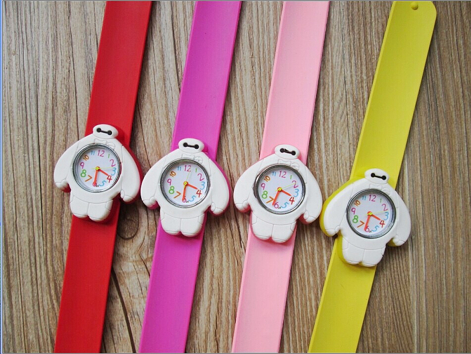 New Fashion Designer kids sports brand silicone watch jelly quartz watch children cartoon big hero 6 slap watch 30pcs/lot<br><br>Aliexpress